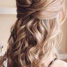 43 Eye-Catching Half Up Hairstyles : golden blonde beauty