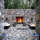 Stone Wall Fireplaces