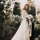 A-line Scoop Lace Wedding Dress Long Sleeve Rustic Wedding Dresses WD521