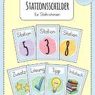 Stationsschilder für die Grundschule - Mrs. B.