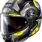X-Lite X-1004 Dedalon N-Com flip flup helmet - Matt Black/Grey/Yellow - XS