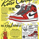 Poster for my favorite Jordan 1. Inspired by comic book ads from the 50s.