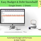 Simple Budget Template Debt Snowball Budget Spreadsheets   Etsy