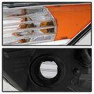 xTune 09 14 Acura Projector Headlights   Light Bar DRL   Chrome PRO JH ATSX09 LB C