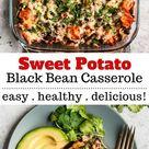 Sweet Potato Black Bean Casserole is tasty + healthy!