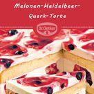 Melonen-Heidelbeer-Quark-Torte