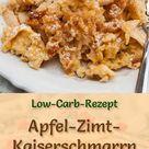 Low Carb Apfel-Zimt-Kaiserschmarrn - süßes Pfannkuchen-Rezept