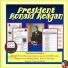 President Reagan   Power Point Lecture & Reaganomics Reading   Print & Digital