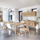 Table de ferme pour salle à manger à l'esprit campagne