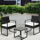 2-Sitzer Lounge-Set Gavrilla aus Rattan