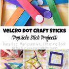Velcro Dot Craft Sticks (Popsicle Stick Projects)