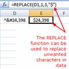 Replace or Add Characters to Data With Excel's REPLACE Function