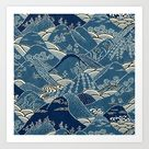 Blue Mountains Art Print by Hypercore - X-Small