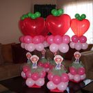 Strawberry Shortcake Centerpieces