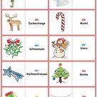 Spiele im Deutschunterricht Domino   Weihnachten & Silvester