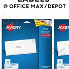 2 FREEBATE Avery 8160 Labels From Office Max/Depot - Yo! Free Samples