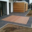 WPC Terrassendielen 36 cm Komplett Bausatz Diele Dielen Holz Terrassendiele