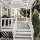 Staining and Painting an Old Deck Brown with White Railings