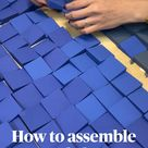 DIY Wood Wall Art How to assemble and glue