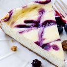 Blueberry Swirl Cheesecake - Sally's Baking Addiction