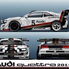 Artwork Audi quattro Concept in Group B style