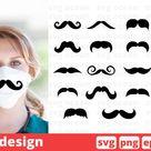 Mustache SVG Bundle, mustache face mask svg pattern (545039) | SVGs | Design Bundles
