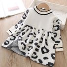 Leopard Crystal Sweater Dress - as pictures 9 / 9M