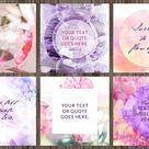 Instagram Branded Templates Vol. 2 by Coral Antler Creative on @creativemarket