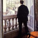 Gustave Caillebotte - Jeune homme à la fenêtre, 1875