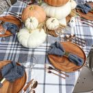Orange & Gray Fall Tablescape - Rooms For Rent blog