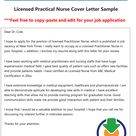 Free Licensed Practical Nurse Cover Letter