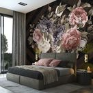 VINTAGE BLUMEN Vlies Fototapete Schlafzimmer Blumenstrauß Rose Pfingstrose 42  | eBay