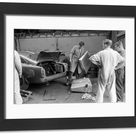 1959 24 Hours of Le Mans. Framed Photo. CIRCUIT DE LA SARTHE, FRANCE   JUNE 21 The Hubert Patthey / Renaud Calderari, Ecurie Trois Chevrons, Aston.