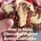 How to Make Chocolate Peanut Butter Cupcakes- with Peanut Butter Filling!