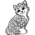 Silhouette Design Store: Cat Mandala Zentangle