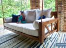 Avery Wood Porch Swing Bed