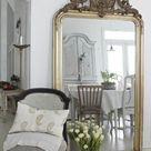 Comment décorer avec le grand miroir ancien - idées en photos - Archzine.fr