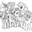 Planse de Colorat cu Ponei – Fise de colorat cu My Little Pony