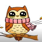 Cute Owl Drawing Easy for kids   How to draw a Owl
