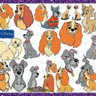 Lady and the Tramp svg, Cricut SVG, Cartoons cutting file,  Vector Files, vinyl Designs, Lady and the Tramp silhouette