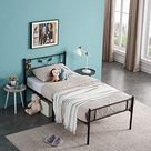 Symylife Metal Bed Frame Black - Black / Twin