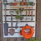 Garden Tool Pallet Potting Station   Caruth Studio