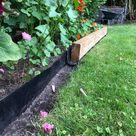Beeteinfassung Holz - DIY - Highlight, um die Bambussperre zu verdecken