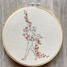 Embroidery PDF Pattern Flower Goddess Digital Pattern Witch | Etsy