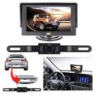 Backup Camera and Monitor Kit,RAAYOO 2020 Upgrade 2nd Generation Car Rear View Reversing Camera Automotive with 150° Perfect View Angle 13 Auto-Lighting LED Lights Night Vision IP69 Level Waterproof - Black