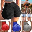 KIWI RATA Women Scrunch Booty Yoga Shorts High Waist Tummy Control Ruched Butt Lift Push Up Fitne...