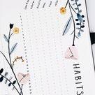 25 Habit Tracker Bullet Journal Ideas For You
