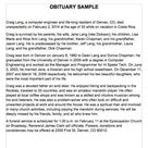 25+ Obituary Templates and Samples ᐅ TemplateLab