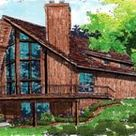 Contemporary Style House Plan 57437 with 3 Bed, 2 Bath, 1 Car Garage