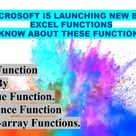 Microsoft Added In MS Excel 6 New Dynamic Functions That Automatically Spill Results Into Multiple Cells   Excel Desk